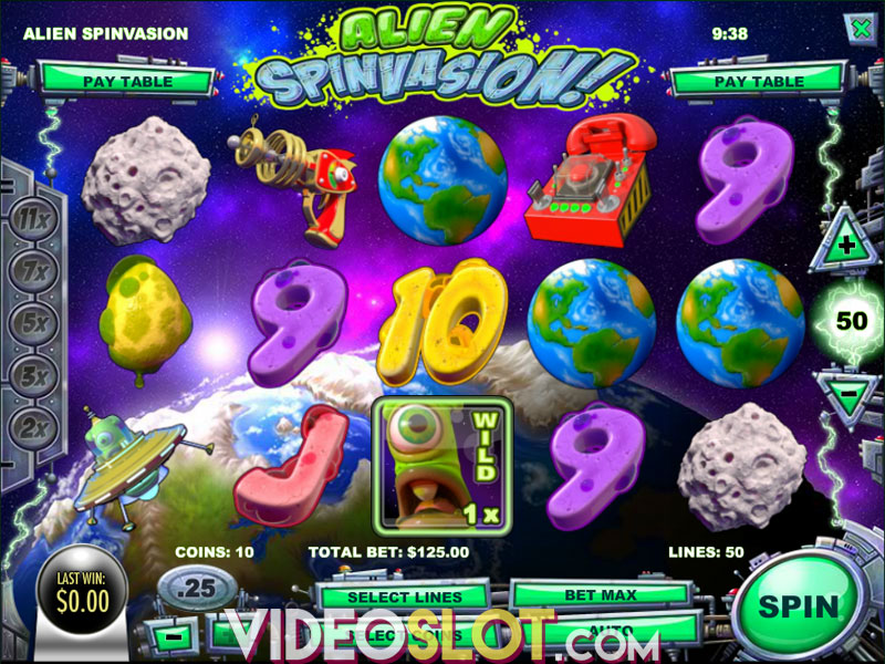 Spiele Alien Spinvasion! - Video Slots Online