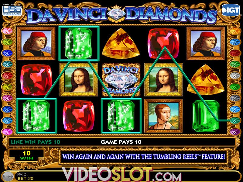 free slot da vinci diamonds