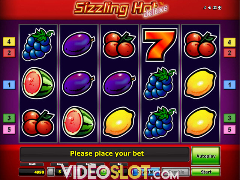 online vegas casino slot sizzling hot