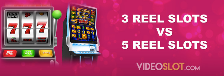 Comparison of 3 Reel vs 5 Reel Slot Machines