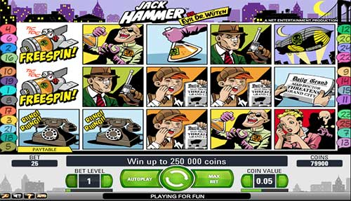 Jack Hammer is a cartoon themed slot that features 5 reels and 25 paylines. Read review.