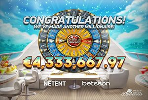 Mega Fortune Dreams slot awards a €4.3 million jackpot