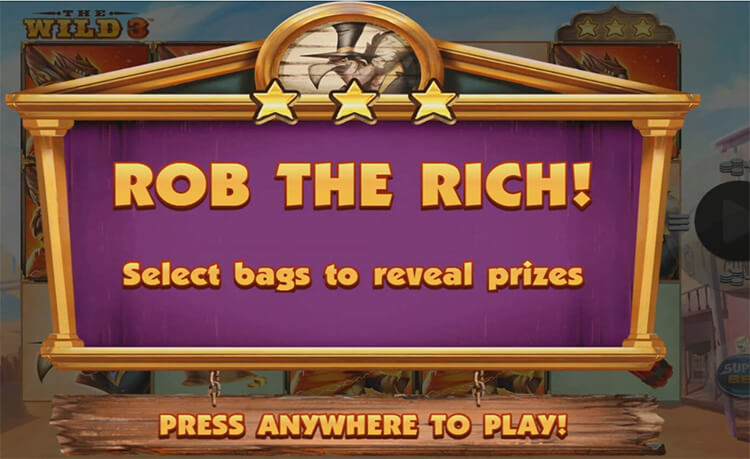The Wild 3 Slot Bonus Game